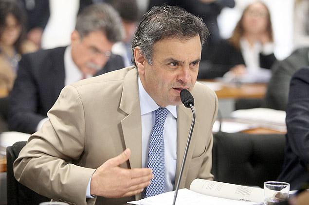 O senador mineiro Aécio Neves (PSDB), que volta hoje a São Paulo para jantar com empresário (Foto George Gianni - 11.dez.2013/Divulgação)