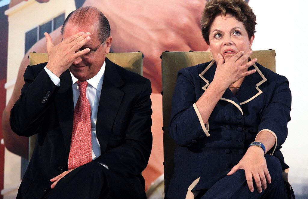 Alckmin e Dilma, que nesta terça discutem a crise de abastecimento em São Paulo (Foto: Jorge Araújo/Folhapress)