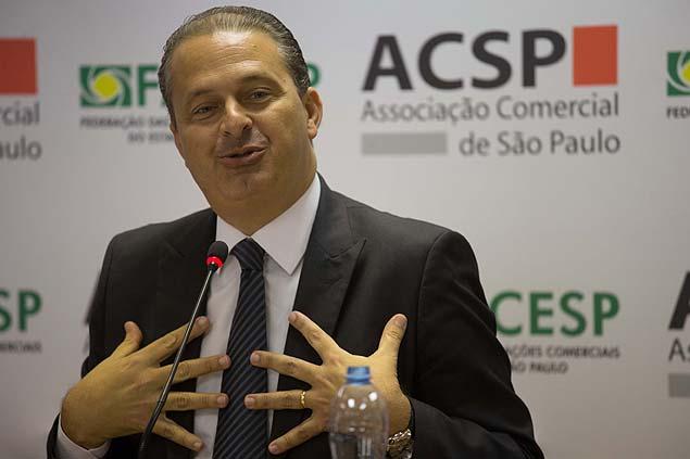 O governador de Pernambuco, Eduardo Campos, em visita a São Paulo (Danilo Verpa/Folhapress)
