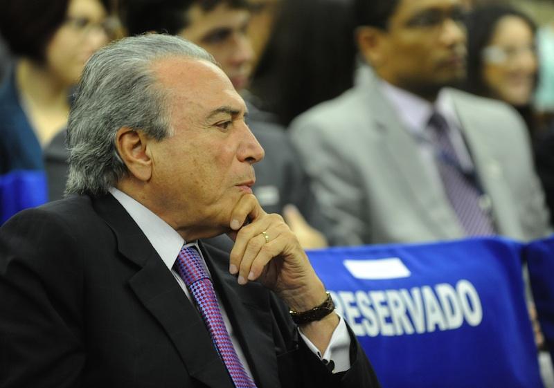 O vice-presidente Michel Temer, que participará da reunião entre ministros e o líder do PMDB na segunda-feira