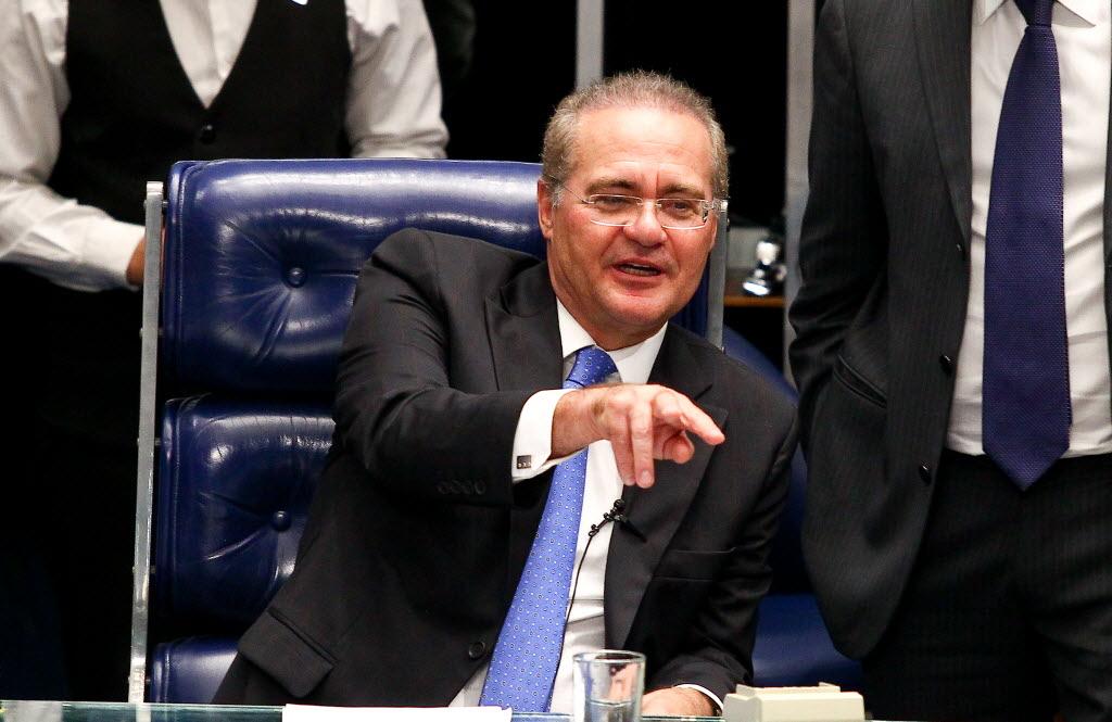 O presidente do Senado, Renan Calheiros, a quem os deputados do PMDB atribuem indicação do ministro do Turismo (Foto Pedro Ladeira/Folhapress)