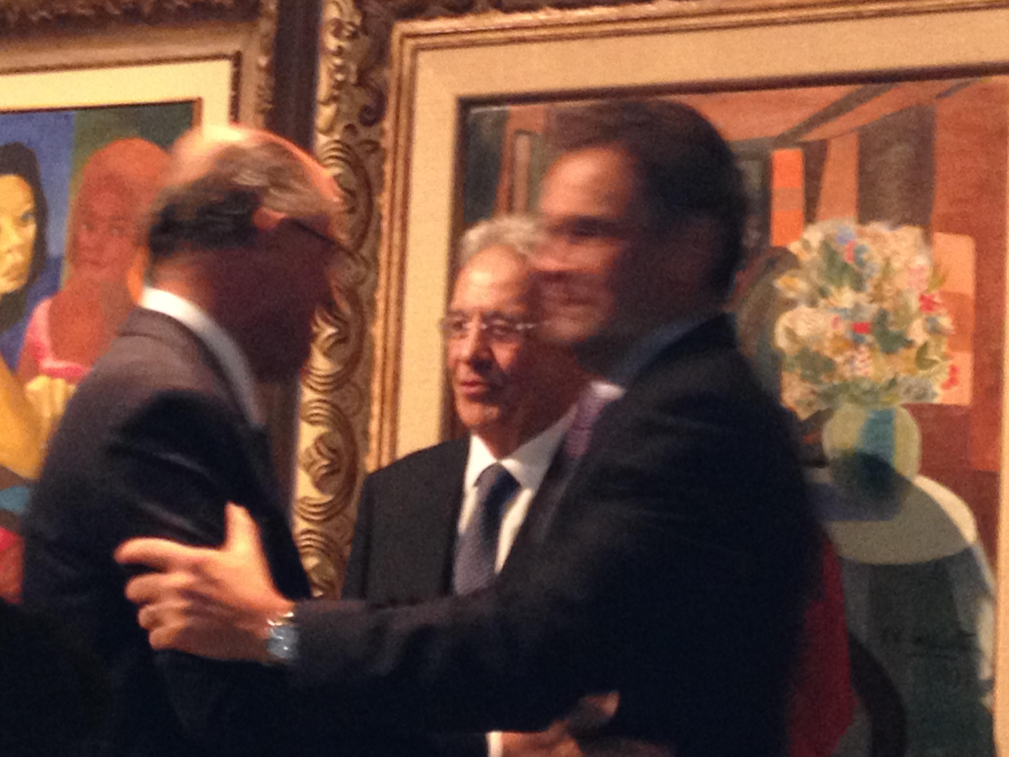 Alckmin,FHC e Aécio durante jantar na noite desta segunda-feira (Foto: Vera Magalhães/Folhapress)