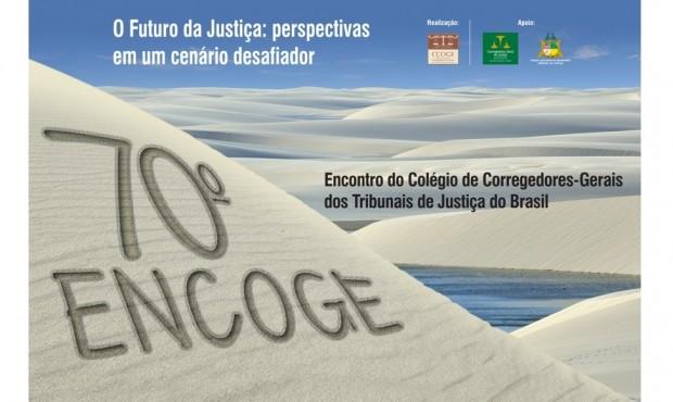 Reprodução do cartaz de divulgação do encontro dos corregedores em Barreirinhas (Divulgação)